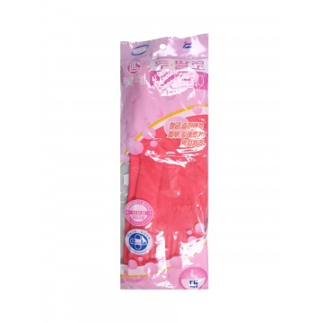 PINK RUBBER GLOVES (1 PAIR)