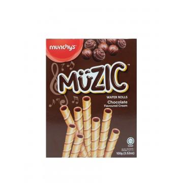 MUZIC CHOCOLATE WAFER ROLLS (100GM)